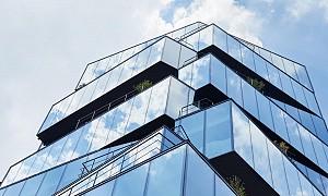 طراحی ساختمان اداری تجاری با ایجاد ارتباط بصری درون و بیرون