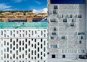 طراحی هتل به سبک معاصر با نمای فایبرگلاس