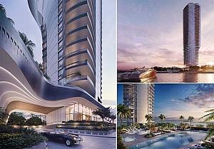 طراحی برج مسکونی لاکچری مدرن 47 طبقه