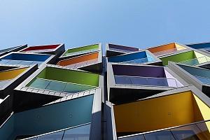 طراحی مجتمع مسکونی با نمایی خلاقانه
