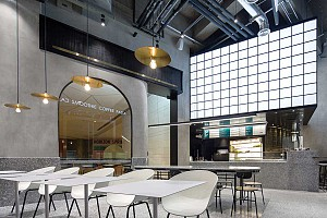 طراحی کافه رستوران مدرن داخل پاساژ