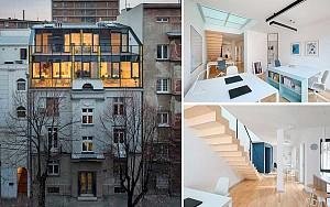 طراحی پنت هاوس مدرن بر روی ساختمان کلاسیک