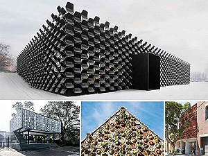طراحی نمای ساختمان  با 16 متریال بازیافتی و دور ریختنی