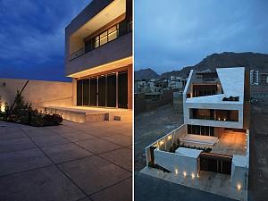 طراحی خانه سه طبقه خرند در  اصفهان با حیاط های متوالی