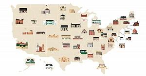 قدیمی ترین ساختمان های ایالت های کشور آمریکا