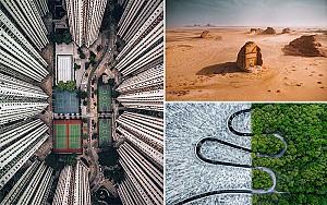 بهترین عکس های هوایی 2018 با موضوع معماری، طبیعت و ورزش