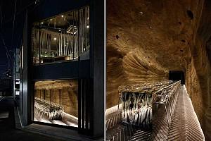 طراحی رستوران ژاپنی و تجربه حضور در غار و طبیعت