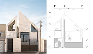 طراحی ویلای یزد در بافت شهری