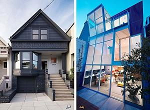بازسازی خانه Cut Out  : تبدیل سبک ویکتوریا به مدرن