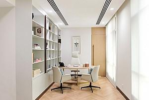 طراحی داخلی دفترکار  هلدینگ با استاندارهای بین المللی