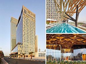 طراحی هتل 5 ستاره کویت با نمای سنتی