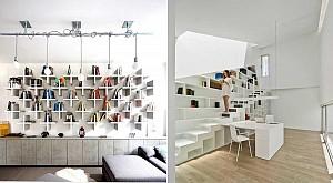 طراحی 63 کتابخانه برای خانه و محل کار