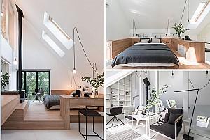 طراحی و معماری خانه ی مدرن زیرشیروانی