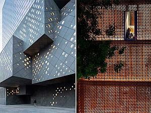 18 نمای ساختمان با پوسته ای نفوذپذیر