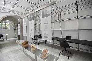 طراحی داخلی دفتر معماری 100 متری