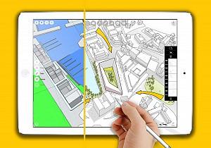 نرم افزار ترسیم سه بعدی دقیق مختص iPad