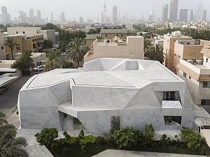 خانه ای در کویت با  نما اوریگامی و سیرکولاسیون اسلامی
