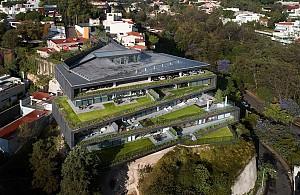 طراحی مجتمع مسکونی در زمین شیب دار
