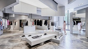 طراحی داخلی فروشگاه مختص خانه مد