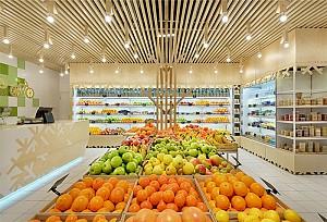 دکور و چیدمان مغازه ی میوه فروشی مدرن