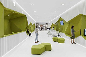 طراحی داخلی شعبه جدید بانک پیشرفته DSK