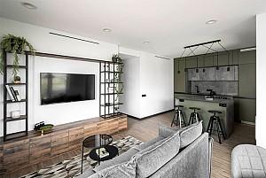 آپارتمانی با طراحی  دکوراسیون شهری و مدرن