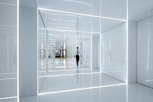 طراحی داخلی دفتر کار SOHA - طراحی شیشه ای