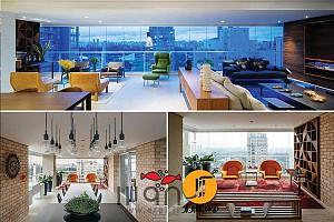 طراحی داخلی آپارتمان مسکونی 200 متری