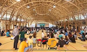 طراحی سالن ورزشی با سازه بامبو برای مدرسه ابتدایی Panyaden