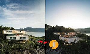 معماری ویلای تریبلکس ساحلی پنینسولا