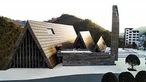 معماری مرکز فرهنگی Shui سنت ها و تاریخچه بومی را بازتاب می کند
