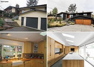 قبل و بعد از بازسازی خانه ای مدرن