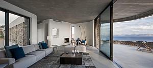طراحی معماری ویلا  با پلان U