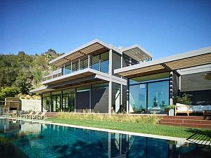 طراحی خانه پیش ساخته بر روی شیب های کوهستانی