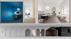 طراحی داخلی مفهومی شوروم و  نمایشگاه دکوراسیون و  مبلمان