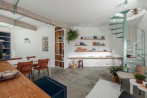 طراحی داخلی و بازسازی دفترکار معماری ،دنج و روشن