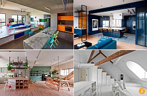 طراحی داخلی و انواع چیدمان 55 آشپزخانه با پلان باز