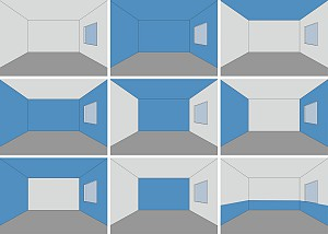 چگونه رنگ ها درک تناسبات فضای داخلی را تغییر می دهند؟
