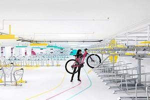 تبدیل  یک گاراژ بلا استفاده به پارکینگ دوچرخه ها
