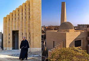 طراحی مسجد اسلامی مصر با گنبد تک پوسته لانه زنبوری