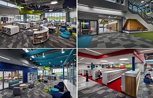 طراحی داخلی دو مدرسه ابتدایی برای جمعیت رو بهه افزایش