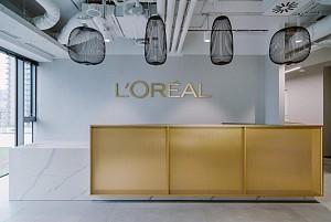 طراحی داخلی دفتر کار برند  L'Oreal در لهستان