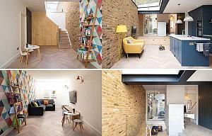 اضافه کردن فضایی جدید در طراحی داخلی خانه دو طبقه