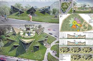 طراحی ساختمان آکادمی هنر : به همه ی گل ها اجازه دهید که شکوفه دهند و تمام هنرها را توسعه دهند.