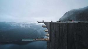 طراحی استخر شیشه ای | کنسول بر لبه پرتگاهی در نروژ