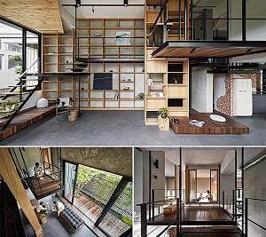 طراحی داخلی ویلای تایوانی با طراحی هیبریدی