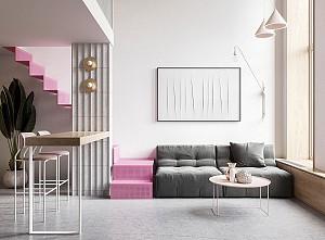 پلان و طراحی داخلی آپارتمانی کوچک  زیر 70 متر مربع