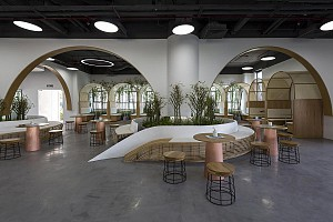 سرعت ، انعطاف پذیری و محیطی دوستانه در طراحی داخلی ساختمان اداری