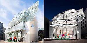 طراحی داخلی و معماری خانه مد و فروشگاه  Louis Vuitton -فرانک گری و پیتر مارینو