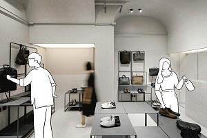 طراحی داخلی متفاوت و منحصر به فرد فروشگاه محصولات چرمی